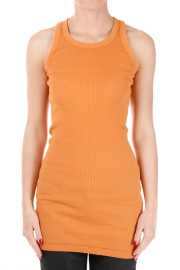Top a Costine RIB TANK Papaya