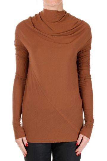 T-shirt BONNIE Maniche Lunghe Henna in Misto Seta