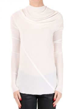 Silk Blend Long Sleeves BONNIE Milk T-shirt