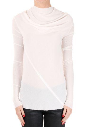T-shirt BONNIE Maniche Lunghe Milk in Misto Seta