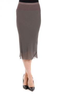 Silk KNEE LENGHT Dark Dust Skirt