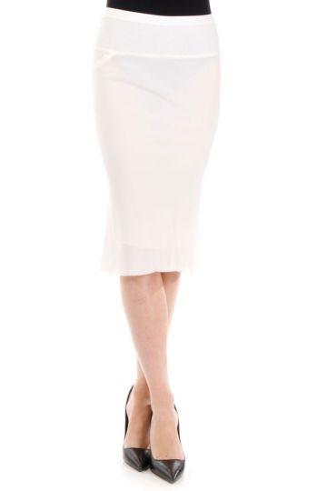 Silk KNEE LENGHT Milk Skirt