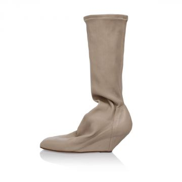 Leather Pull On Booties SOCK SLIVER