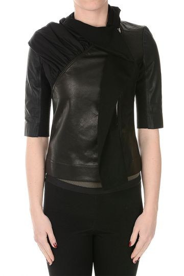 Short sleeve Leather SPHINX Jacket