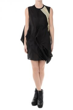 Silk CANDY TUNIC Dress BLK/ALMOND