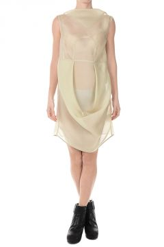 Silk SEAHORSE TUNIC Dress ALMOND
