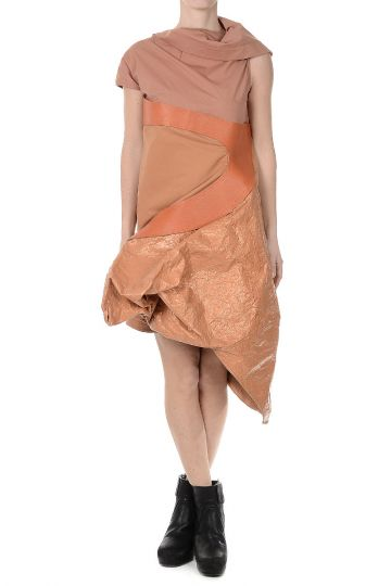 Vestito TUNIC in Cotone NATURAL/PAPAYA/ROSEBUD