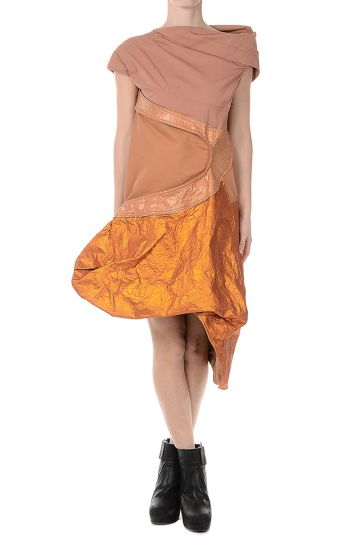 Vestito CALDER TUNIC in Cotone NATURAL/ROSEBUD/PAPAYA