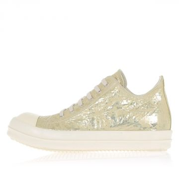 DRKSHDW Leather LOW SNEAKS Sneakers WARM SILVER