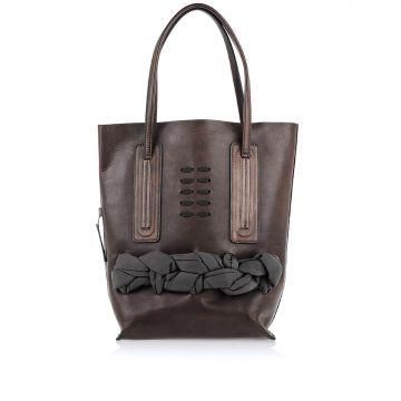 Leather Shopper Bag DARK DUST
