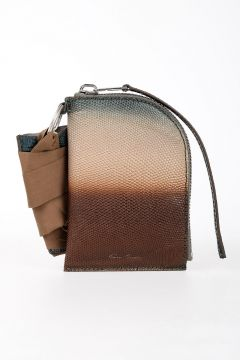 Leather NECKWALLET in DEGRADE TUNDRA
