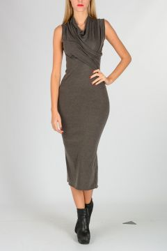 Sleeveless WRAP Dress DARKDUST