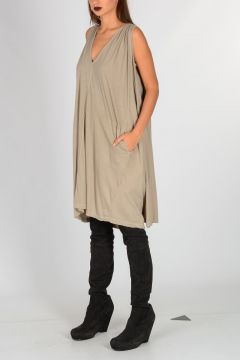 DRKSHDW Cotton CAPED TUNIC Dress