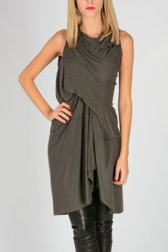 Long Asymmetric Cut GATHERED Top DARKDUST