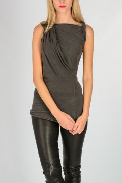 LILIES Sleeveless TWISTED Top DARKDUST