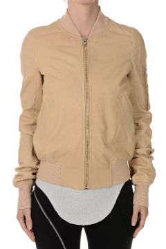 Leather FLIGHT BOMBER CROPPED Jacket