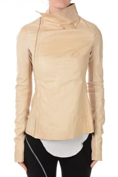 Leather ZIPPED TURTLE  Jacket Bone