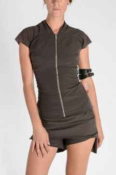 Top ZIP FRONT DARK DUST