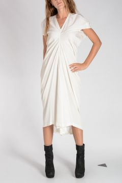 Vestito LOABSTER DRESS in Viscosa Stretch MILK