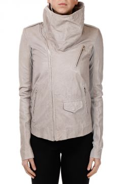 Leather COWLED STOOGES Jacket PEARL