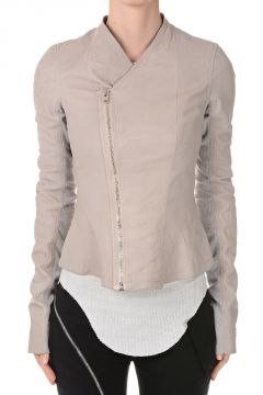 Leather PRINCESS BIKER  Jacket Pearl