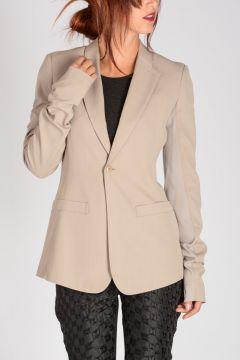 Viscose & Virgin Wool LONG BLAZER PEARL