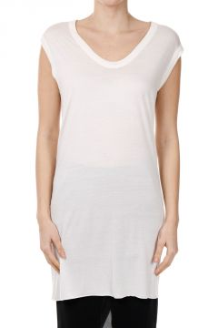 Top V NECK SLEEVELESS MILK