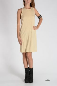 DRKSHDW Cotton RIBBON RICK'S TUNIC Dress BONE