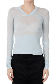 DRKSHDW Cotton T-shirt GEO CROPPED TEE