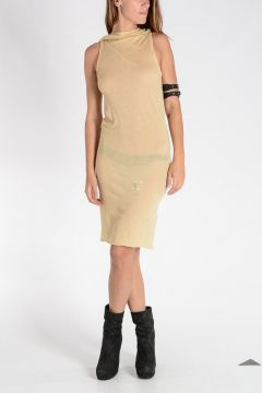 DRKSHDW Cotton TIED TUNIC Dress BONE