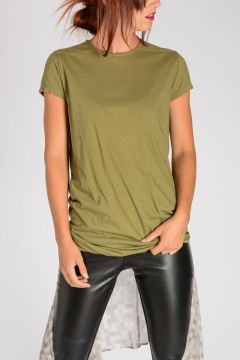 DRKSHDW T-Shirt DOUBLE TEE in Jersey LIMOGREEN