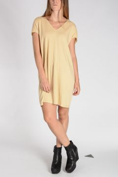 Cotton FLOATING TUNIC Dress BONE