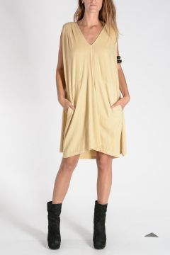 DRKSHDW Vestito CAPED TUNIC in Cotone BONE