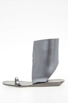 Leather SLIVER WEDGE WITH ANTHEM NOTCH Sandals