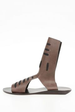 Leather SLIVER WEDGE SPARTAN HOLES Sandals DARKDUST
