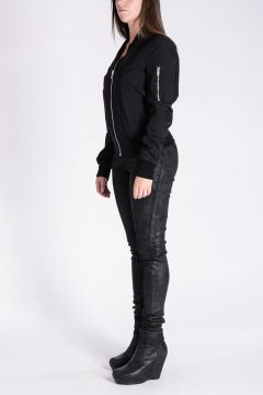 Silk CROPPED FLIGHT Jacket