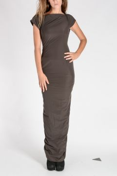 Vestito ALA LEVEL GOWN in Nylon Stretch DARKDUST