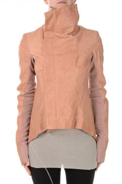 Leather NASKA BIKER Jacket Rose