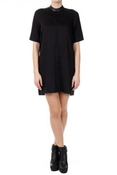 Stretch Fabric SHORT SLEEVE TUNIC Dress