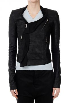 Leather  NEW SCARF BIKER Jacket