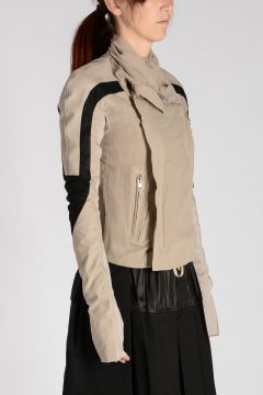 COMBO ELIEL BIKER  Silk and Leather Jacket