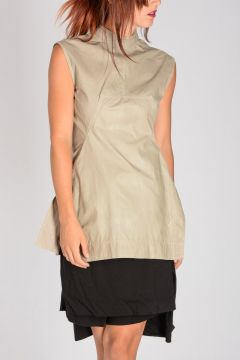 DRKSHDW Top CALPURNIA TUNIC in Cotone Stretch PEARL