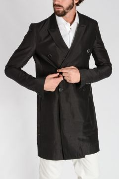 Double Breasted Wool Blend JMF SOFT PEA Blazer