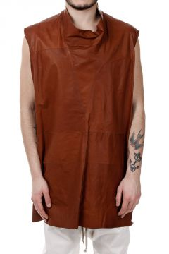 Top SLEEVELESS Leather COL. ORANGE