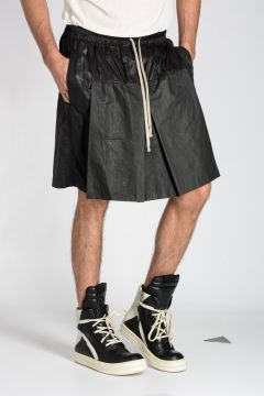 Coated Cotton FLOUNCED FAUN SHORTS Pants