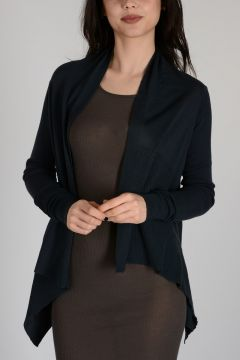 Virgin Wool SHORT WRAP Cardigan PASSPORT