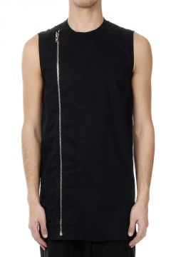 Full Zipped Sleeveless Tunic