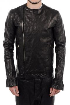 Deer Leather CREW NECK BIKER Jacket