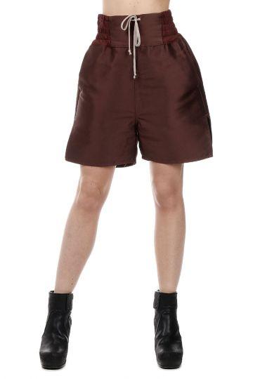 Wool blend PLAIN BOXER Bermuda Pants