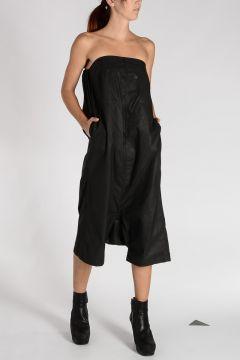 STRAPLESS BODYBAG Cotton Blend Romper Dress